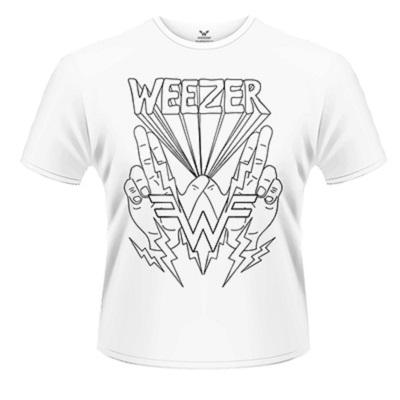 32a0e14a Weezer - T-shirt: Lighting Hands   Banquet Records