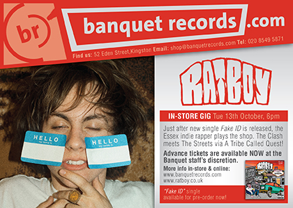RAT BOY - Tuesday 13th October at Banquet Records | Banquet